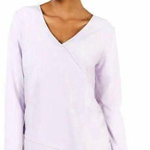 Women's Long Sleeve Crossover Athleisure Top